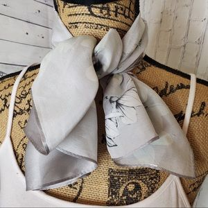 Accessories - Floral silky scarf or handkerchief